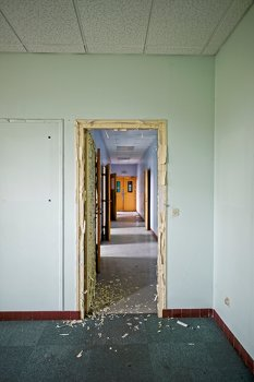 Crumbled door